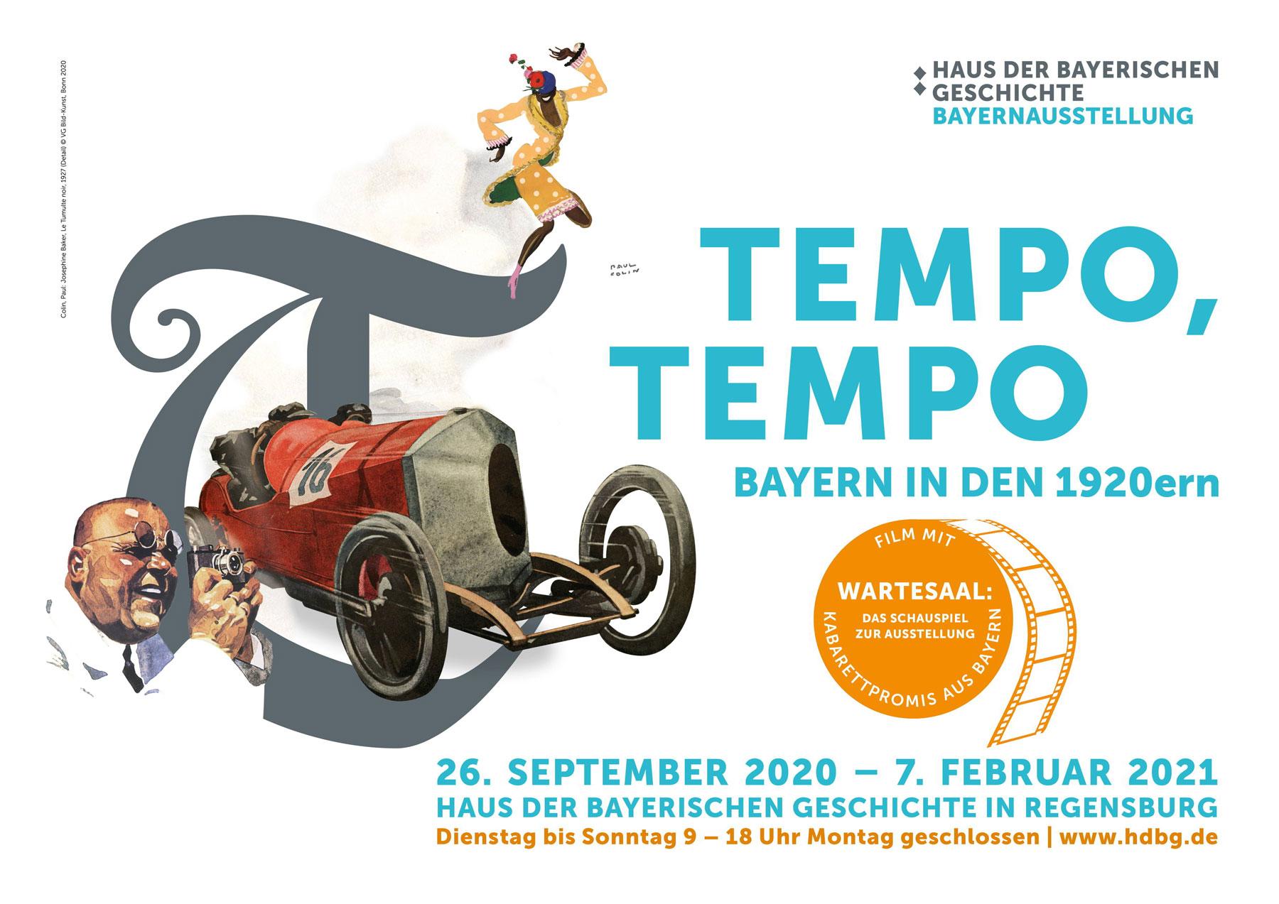 """""""Tempo, Tempo – Bayern in den 1920ern"""" - das ist die Bayernausstellung 2020 im Museum der Bayerischen Geschichte in Regensburg vom  26. September 2020 bis 07. Februar 2021"""