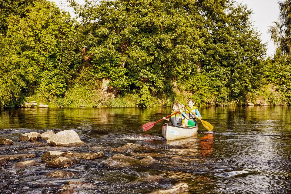 "Canoeing on the river ""Regen"" - Bootstour auf dem Fluss ""Regen"""