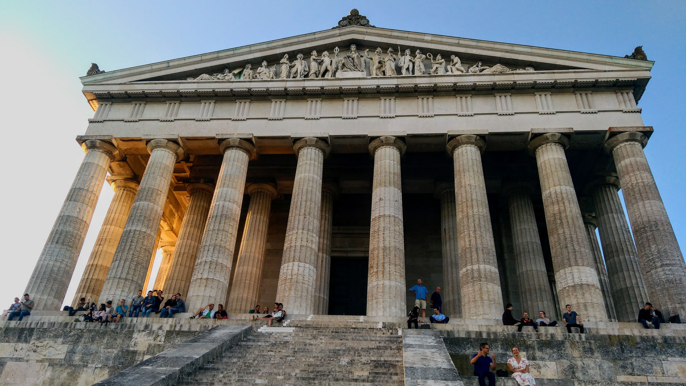 The Walhalla in Donaustauf is a hall of fame that honours laudable people in German history.