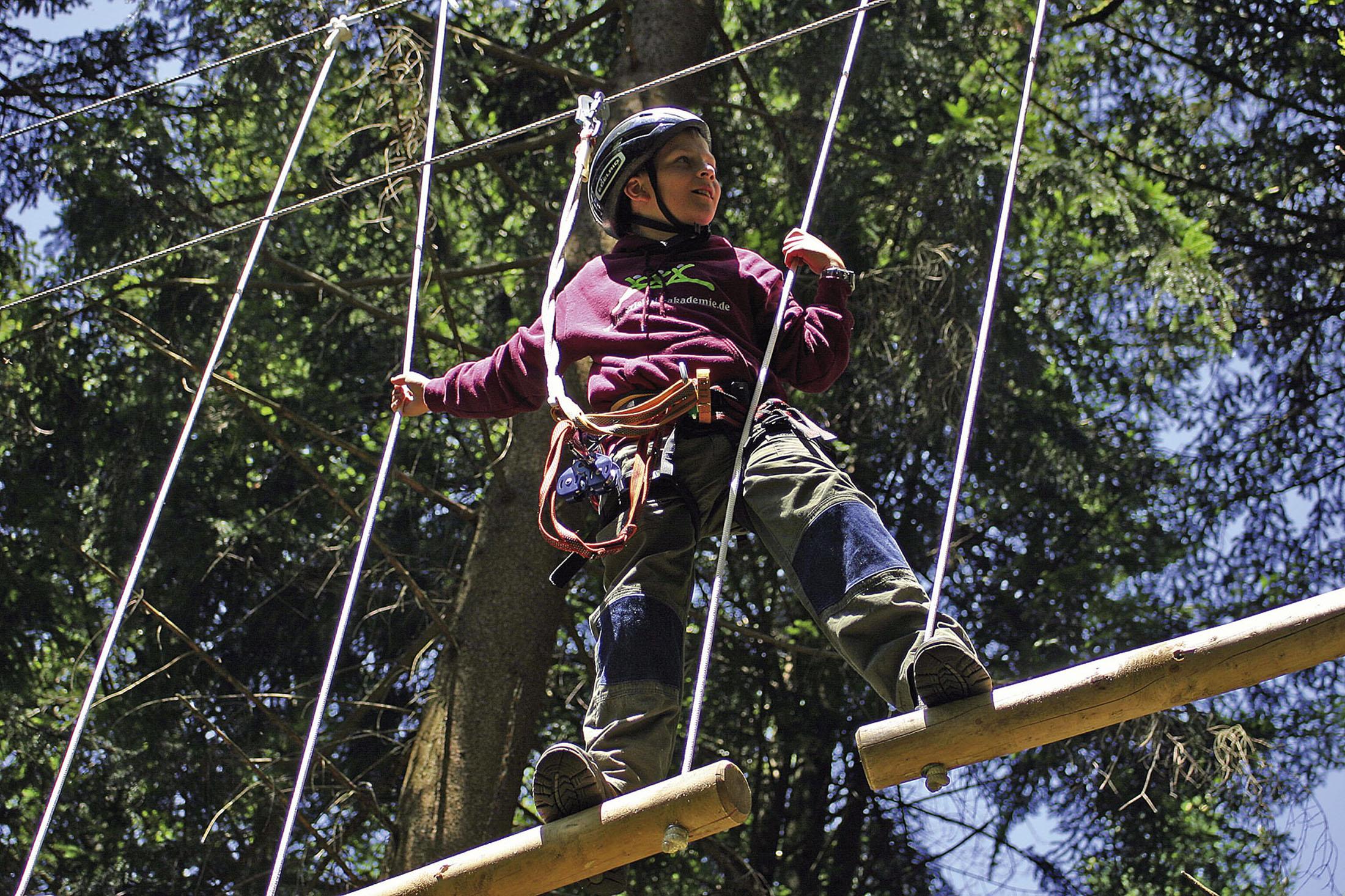 Activities for families - Familienausflug in den Naturhochseilpark Schönberg