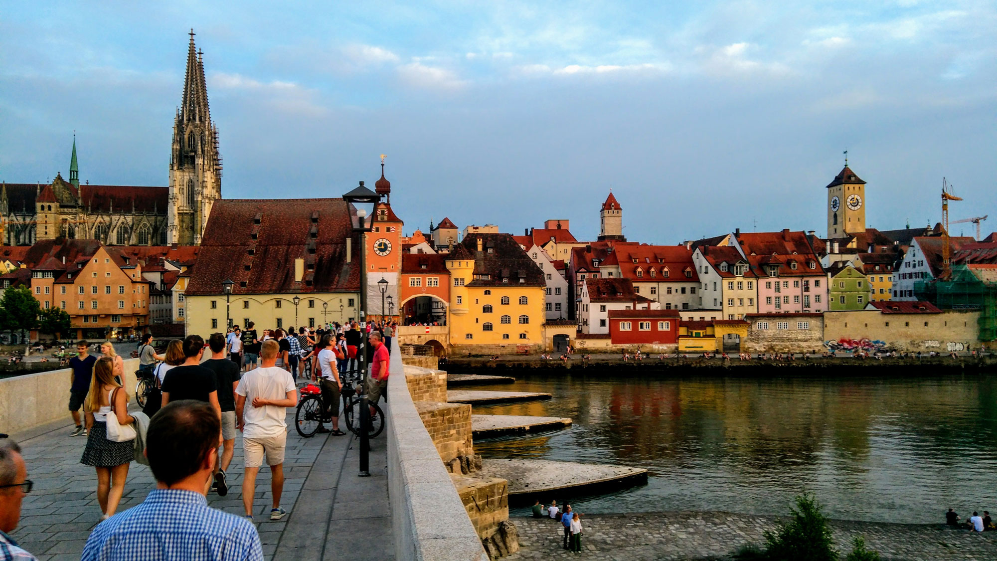 """Cathedral of Regensburg and """"Stone Bridge"""""""