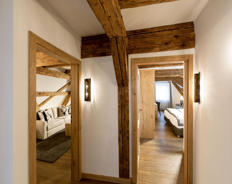 """Luxoriöse Suiten """"Albert"""" und """"Therese"""" im ausgebauten Dachstuhl mit einzigartigen Blick über Landshut"""