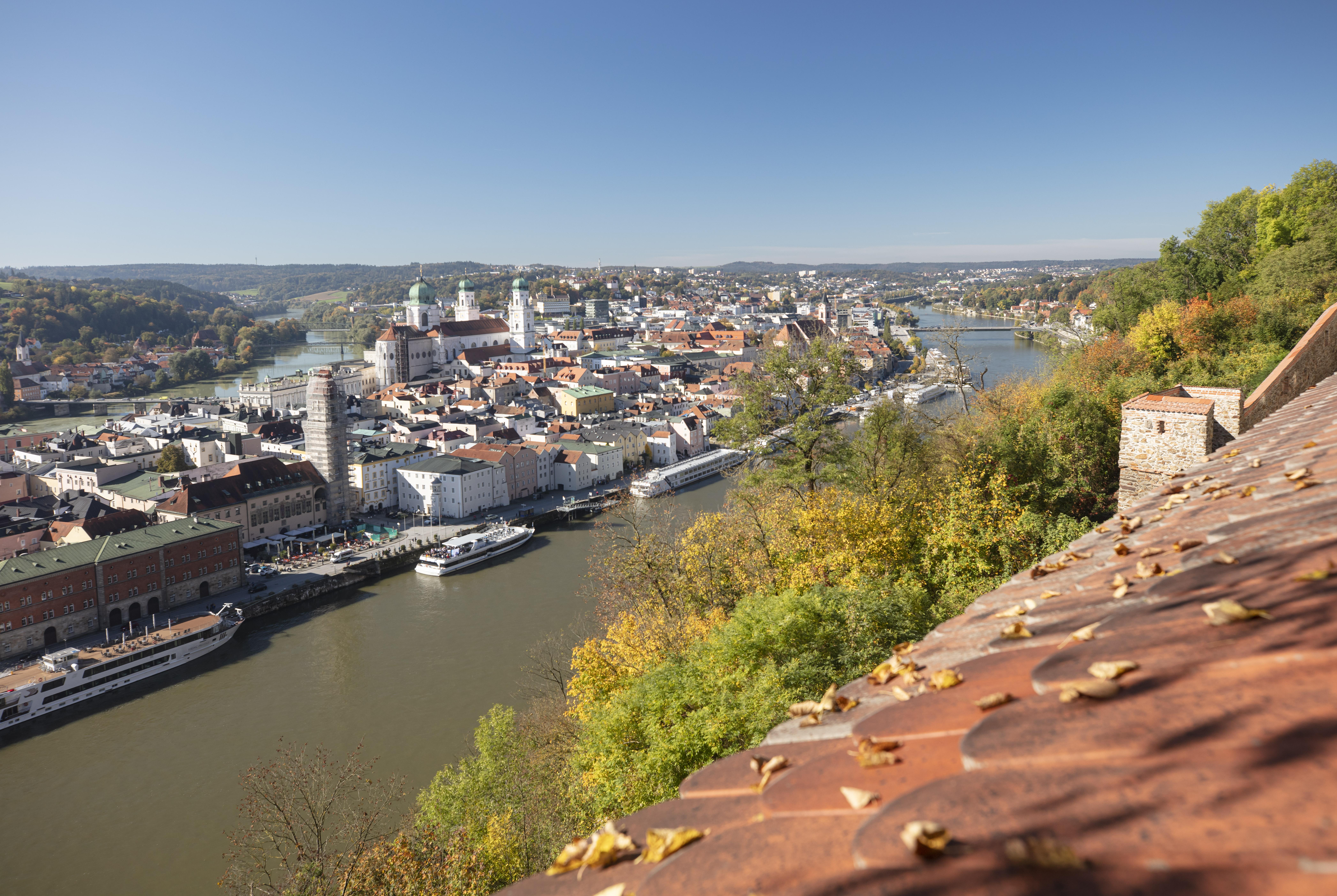 Passau verzaubert mit seiner einzigartigen Lage an drei Flüssen