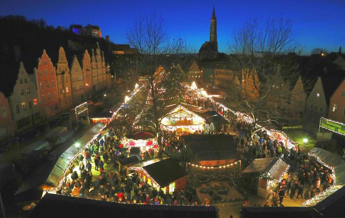 Landshut im Advent: das historische Zentrum erstrahlt im Lichterglanz