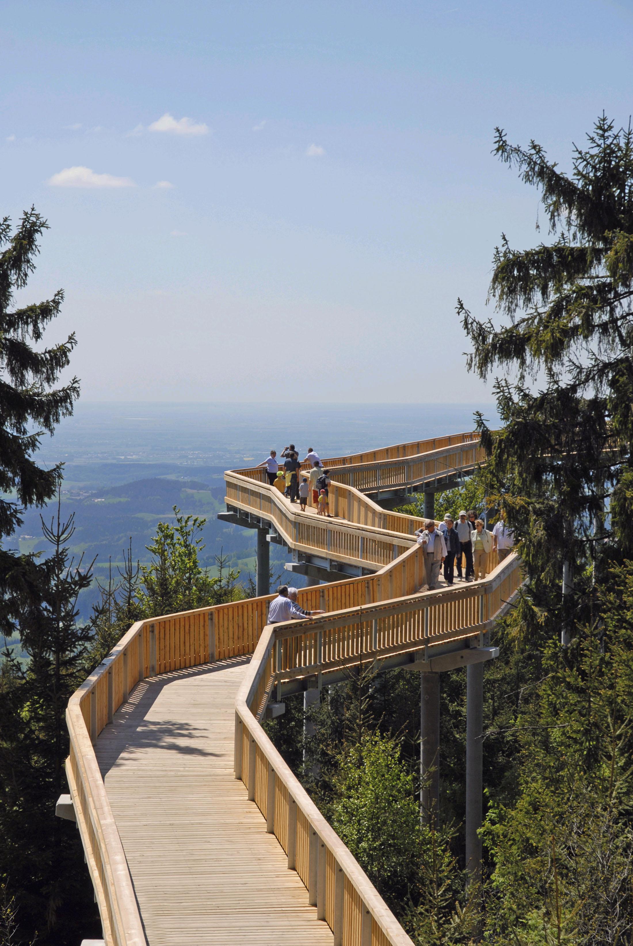 The Walkway High Above the Forest at Maibrunn. - Der Waldwipfelweg in Maibrunn im Bayerischen Wald.