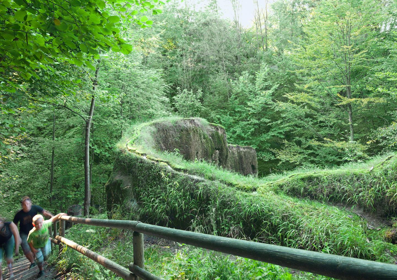 Der wachsende Felsen bei Usterling im Urlaubsland Dingolfing-Landau