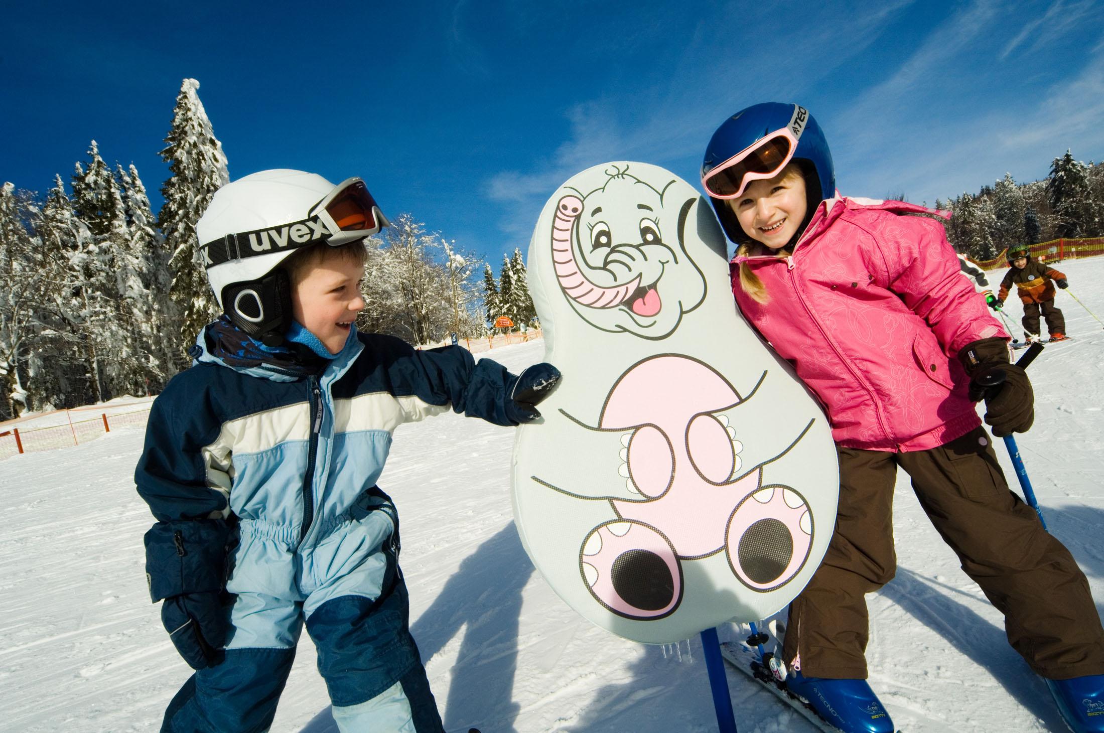 Skiing - Skifahren im Familien-Winterland Mitterdorf