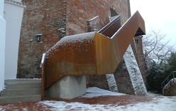 Die Außentreppe der Burg Trausnitz in Landshut ist ein architektonisches Highlight
