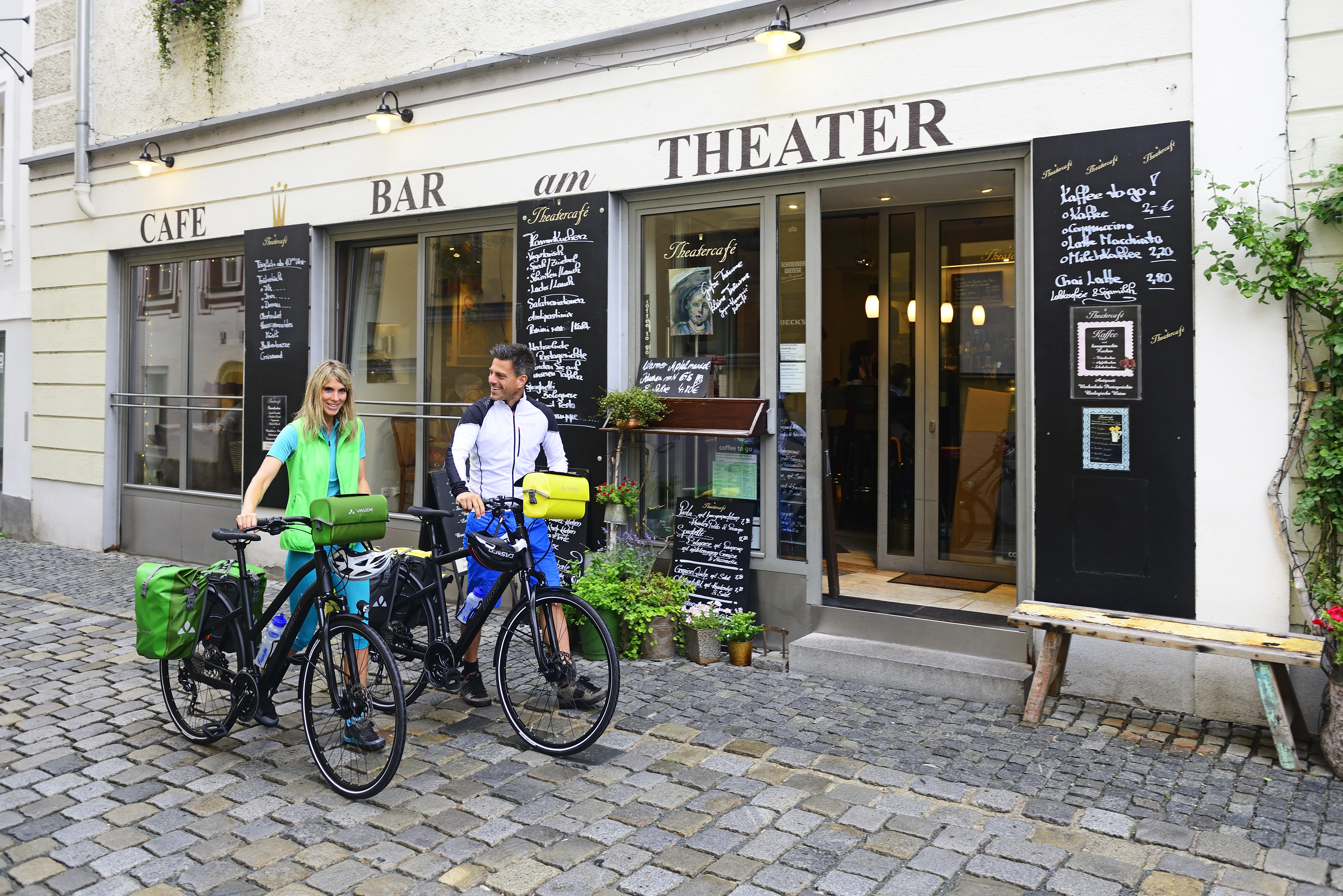 Mit dem Fahrrad in Passau unterwegs