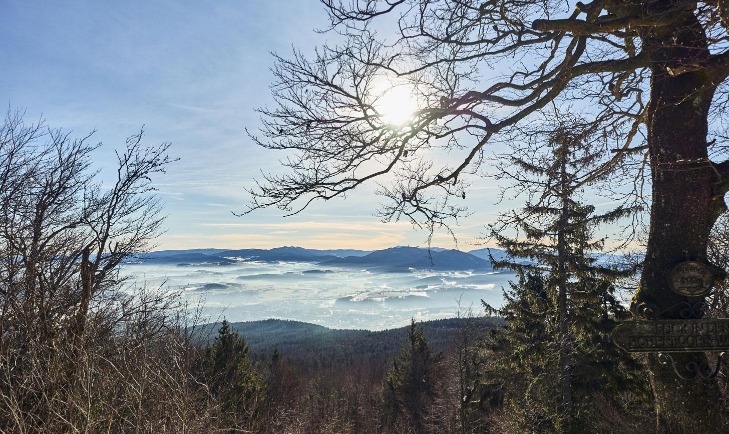 Blick auf das winterliche Furth im Wald