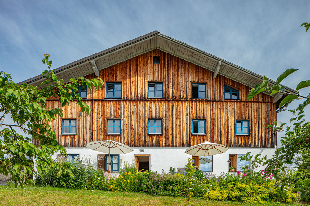 Außenansicht auf das 300 Jahre Bauernhaus