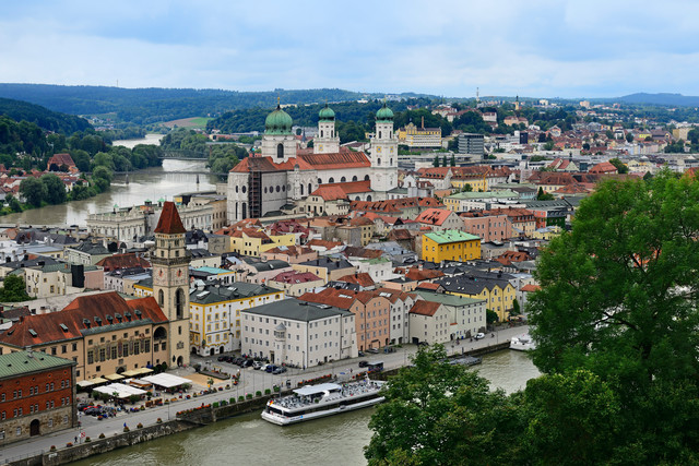Passau Inn und Donau