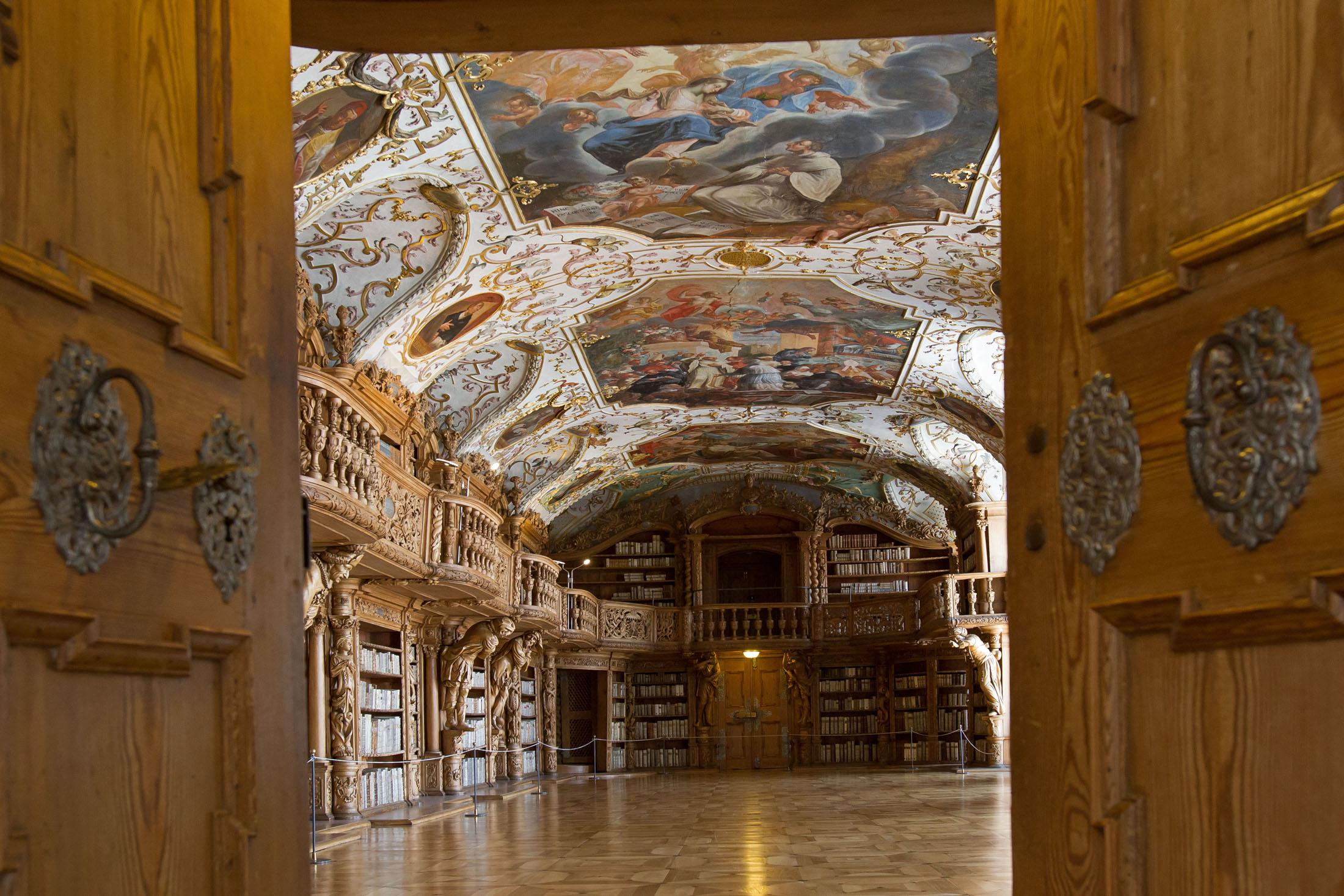World-famous library at Waldsassen Abbey.