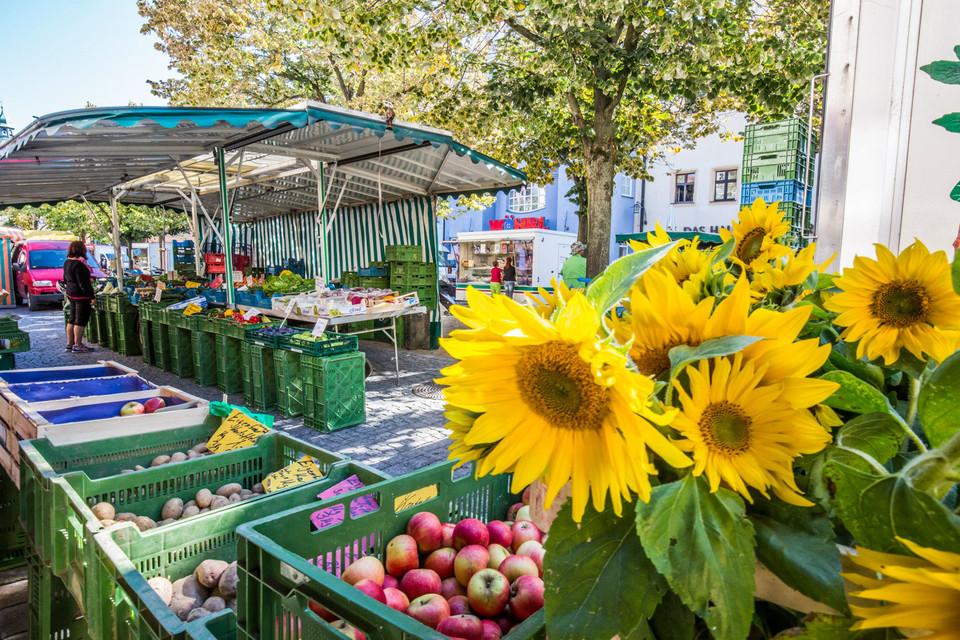 Regionale Produkte am Weidener Wochenmarkt