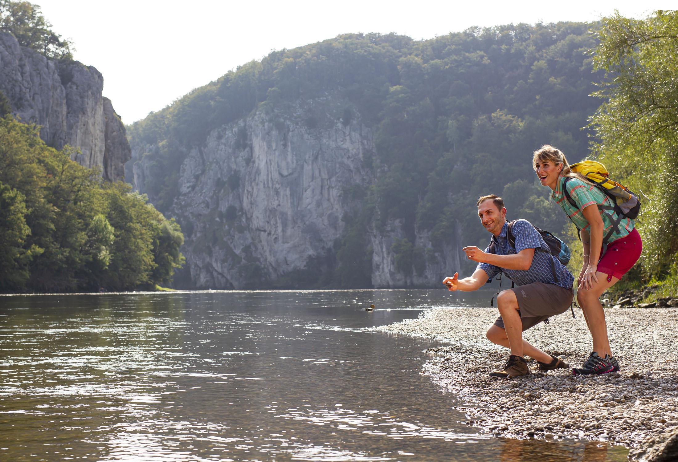 At the Danube river.