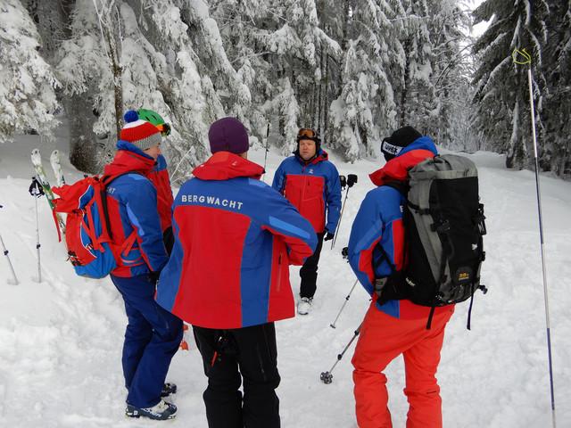 Winter-Ausbildung-Bergwacht Bayerwald