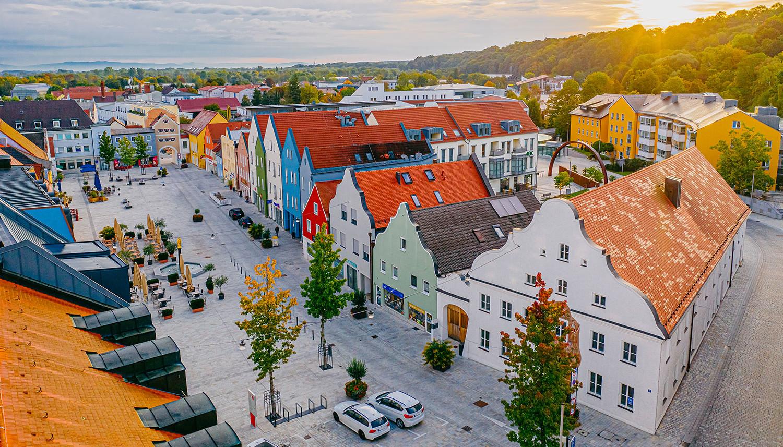 Der neugestaltete Marienplatz mit einer langjährigen Tradition