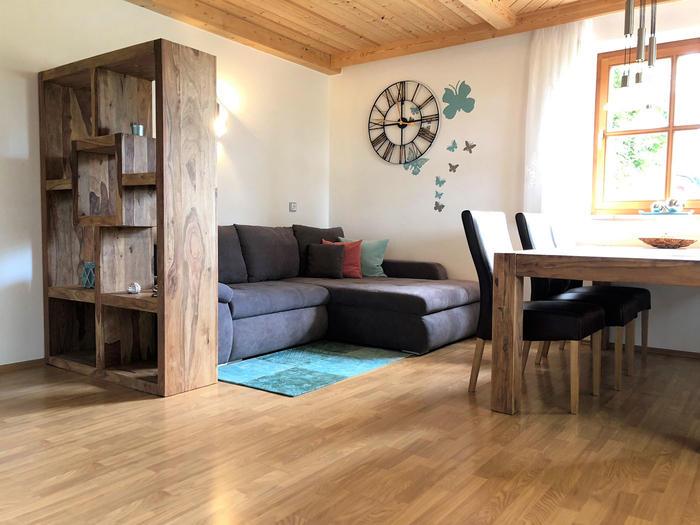 Wohnbereich Ferienwohnung Seerose