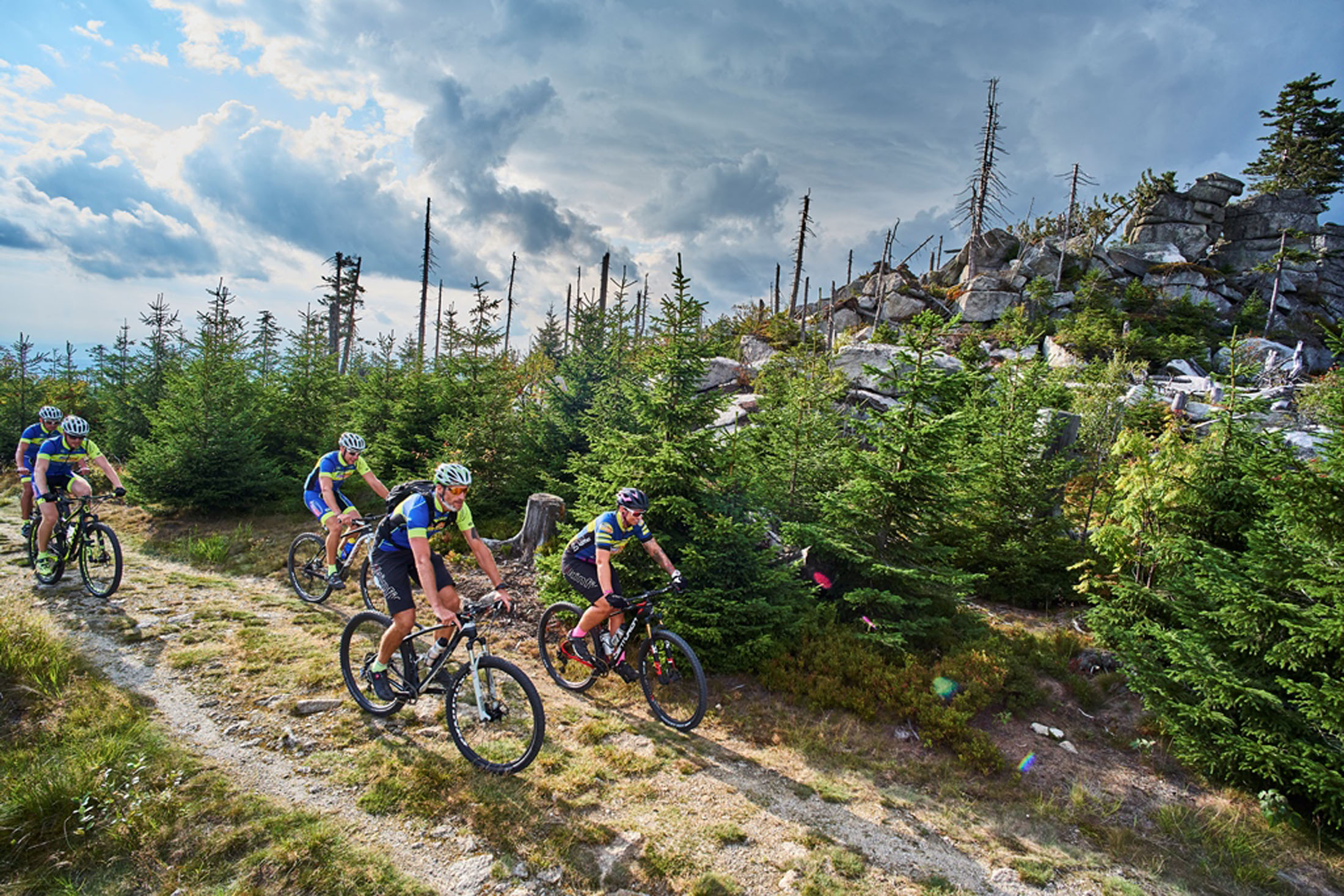 """Cycle Route """"Trans Bayerwald"""" in the Bavarian Forest with a total length of 700 km - Pures MTB Vergnügen auf der 700 km langen Trans Bayerwald"""