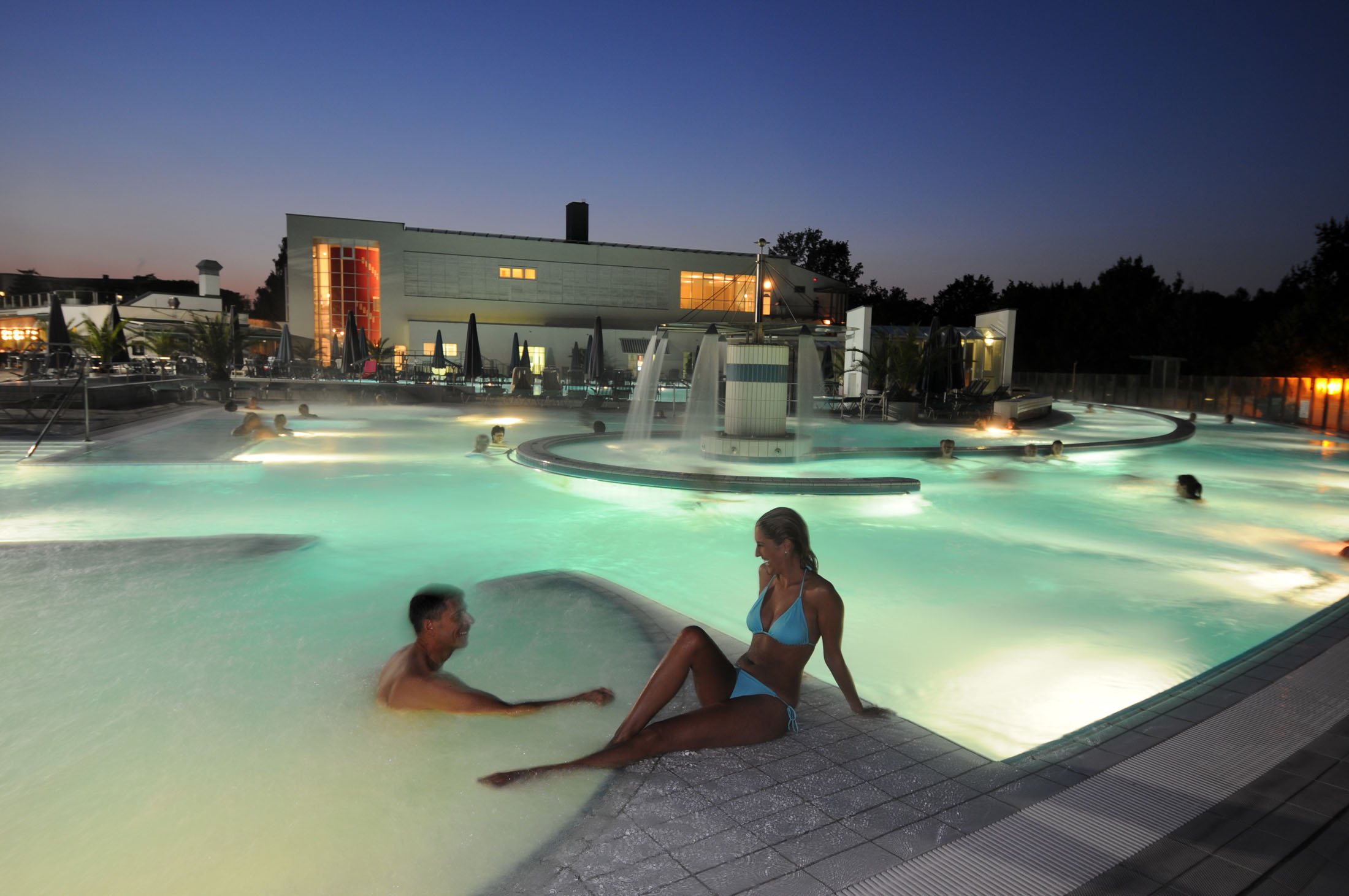 """The """"Europa Therme"""" welcomes its guests with a variety of highlights."""