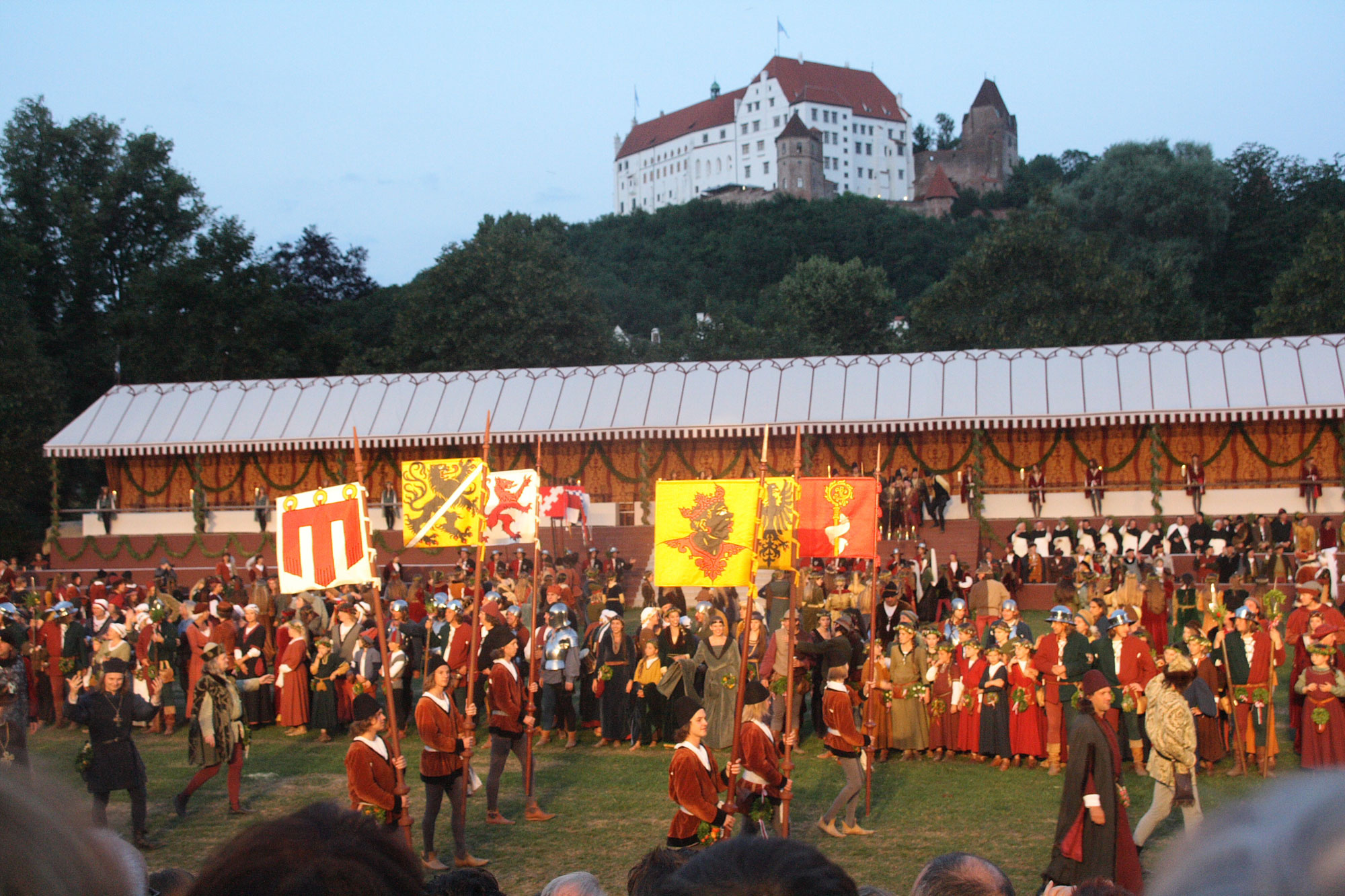 The Royal Wedding of Landshut takes place every four years and is the greatest historical performance in Europe, with over 2,000 actors