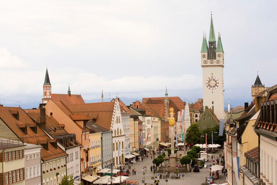 Der Stadtplatz von Straubing.