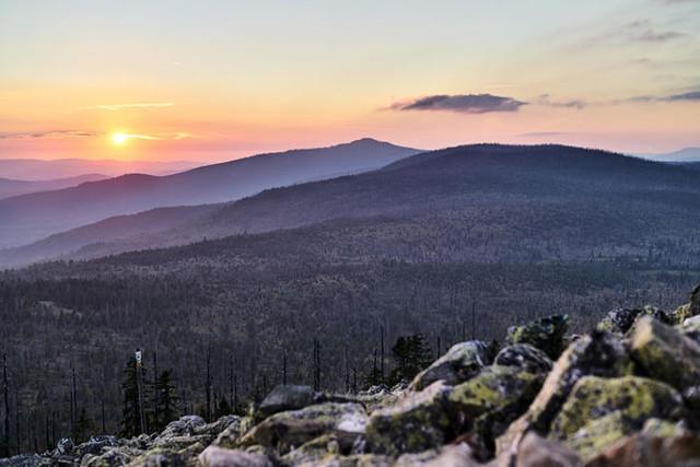 Sonnenuntergang Lusen