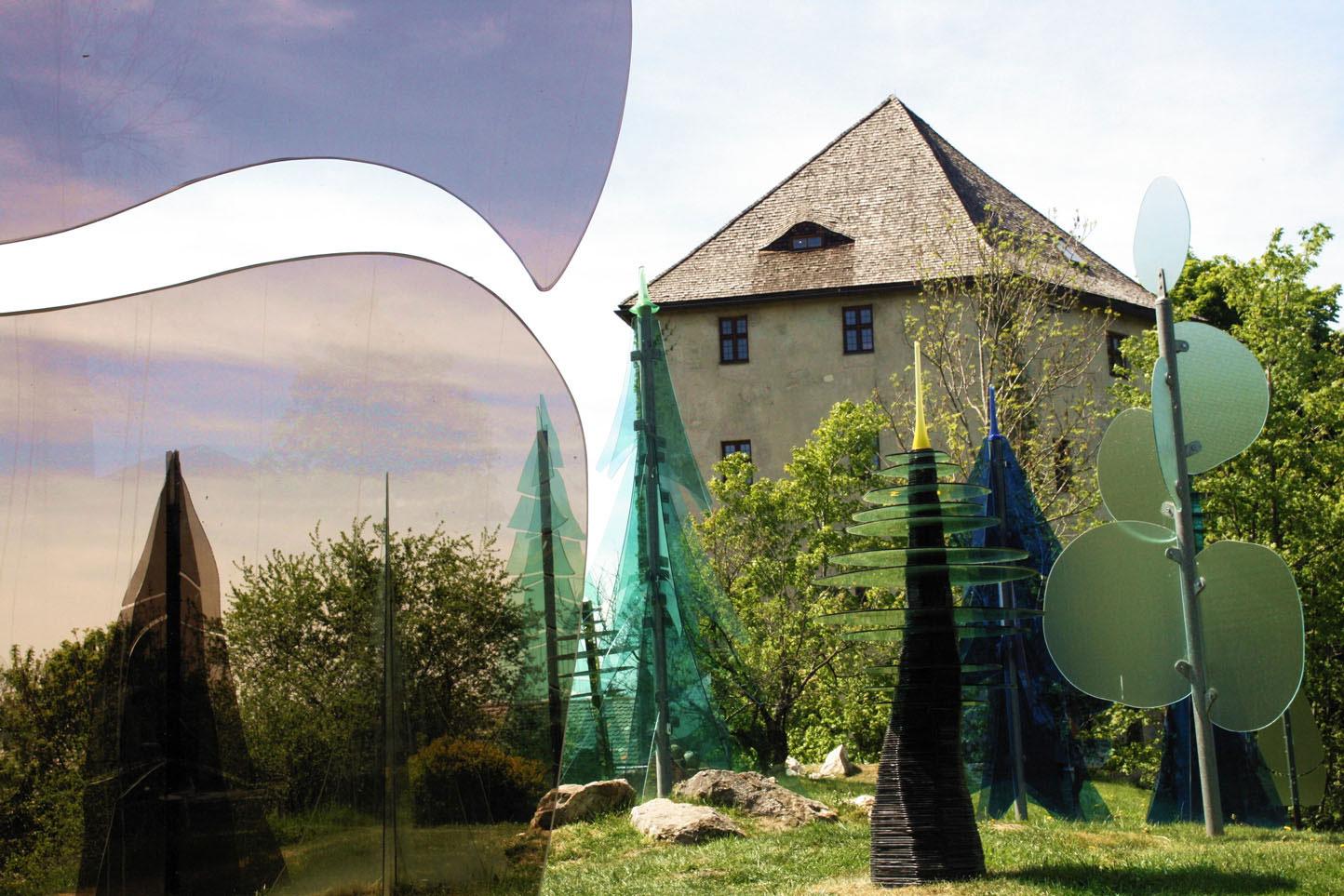 Der gläserne Wald an der Burg Weißenstein in Regen
