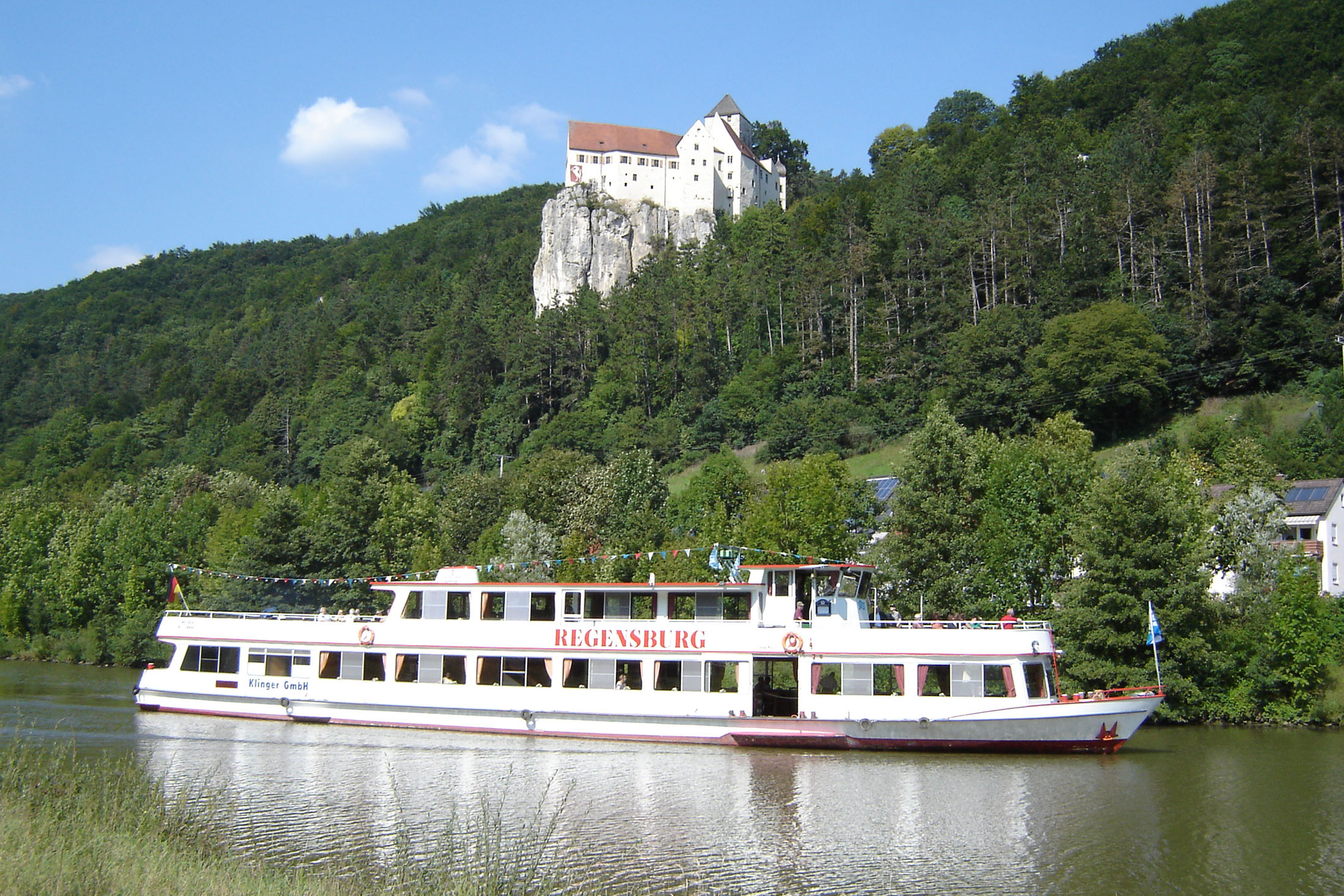 Prunn Castle is perched high above the Altmühl river valley near Regensburg.