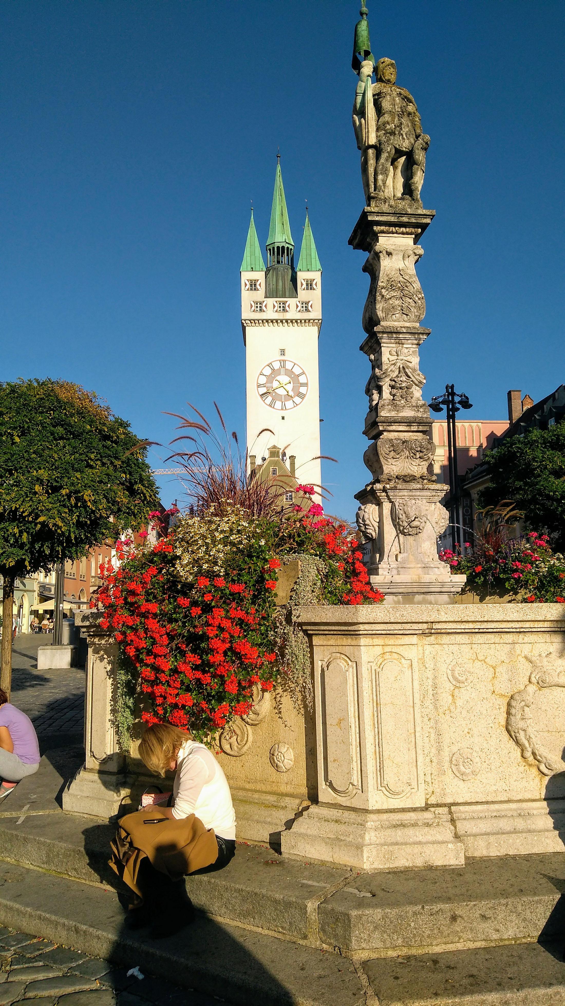 Market square in Straubing - Marktplatz Straubing
