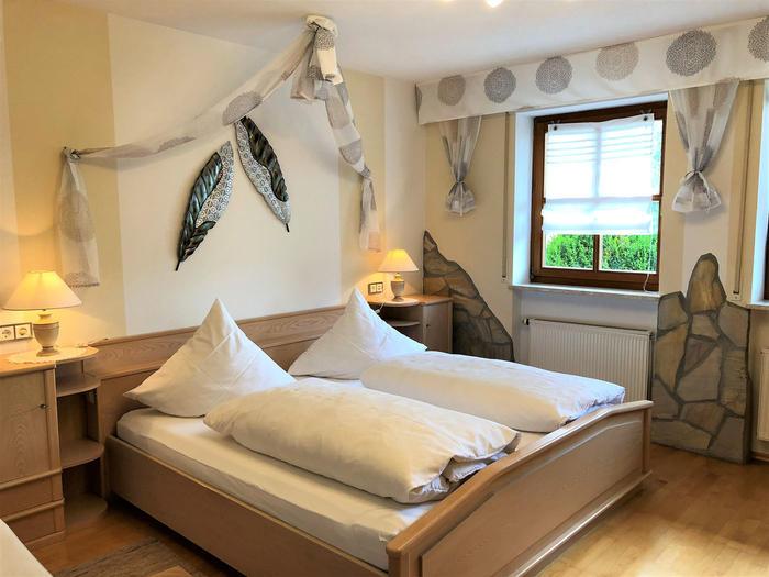 Schlafbereich in der Ferienwohnung Seerose